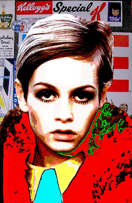 Twiggy Digital Art - Twigg 2 by Chandler  Douglas