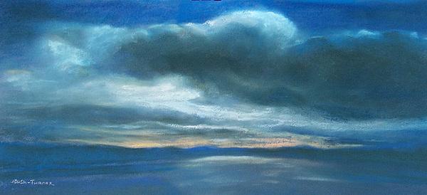 Landscape Pastel - Twilight On Hood Canal by Jackie Bush-Turner