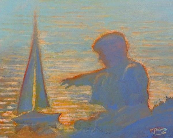 Portrait Painting - Twilight Sailor by Kip Decker