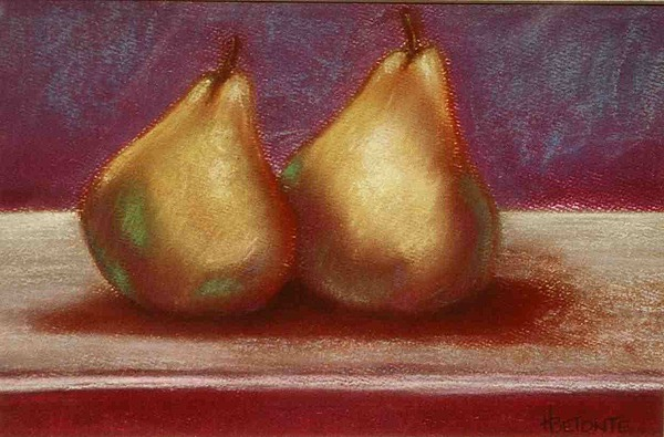 Pears Pastel - Twins by Helen O Hara