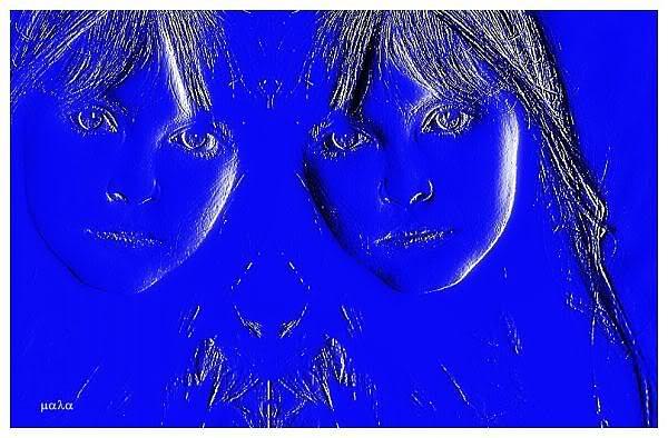 Women Digital Art - Twins by Mala Mustatea