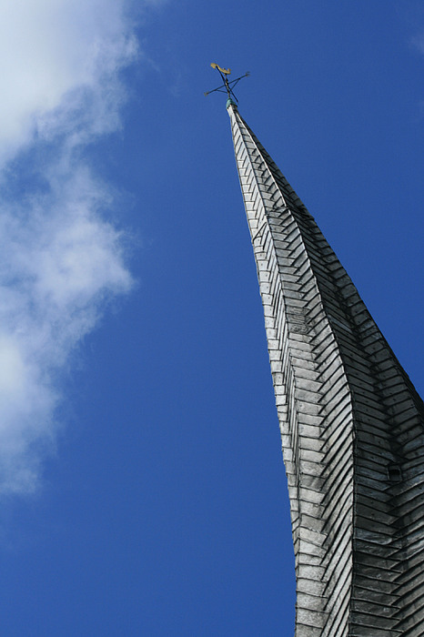 Church Photograph - Twisted Spire by Cathy Weaver
