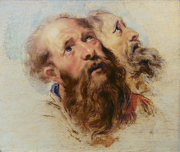 Rubens Painting - Two Apostles by Rubens