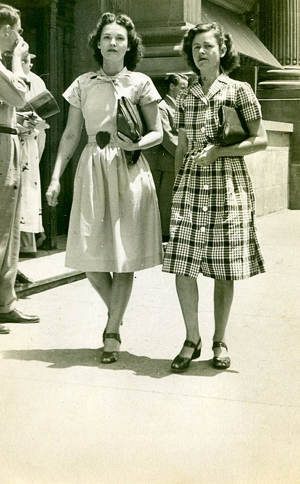 Vintage Photograph - Two Beauties by Jimmie Trotter
