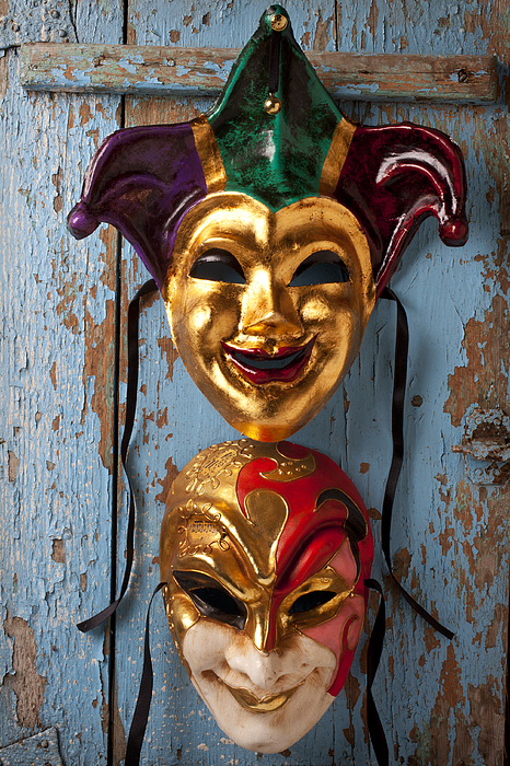 Masks Photograph - Two Decortive Masks by Garry Gay