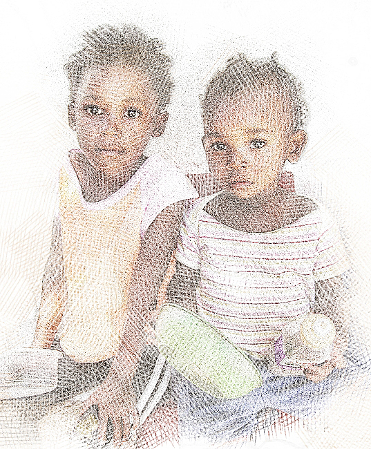 Two Hungry Girls Digital Art by Jan Hattingh