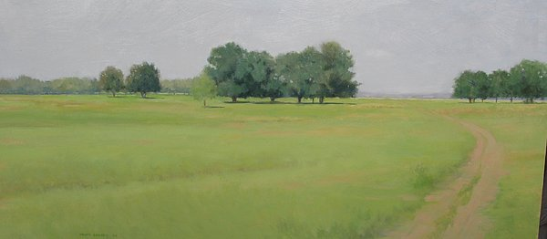 Landscape Painting - Two Miles To Go by Frank Sadera