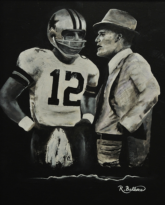 Dallas Painting - Two Of The Greastest Minds In Pro-football by Robert Ballance