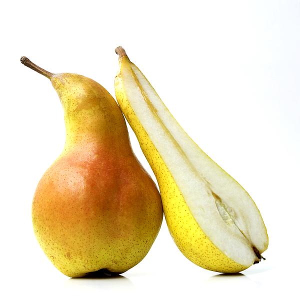 Studio Shot Photograph - Two Pears by Bernard Jaubert