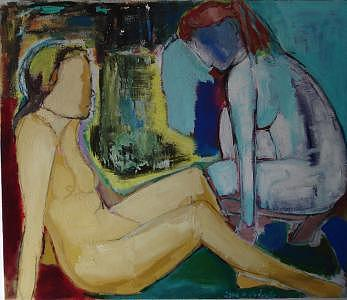Woman Painting - two Woman by Lilli  Ladewig