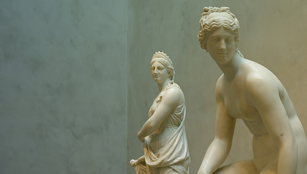 Sculpture Photograph - Two Women by Lawrence Lanoff