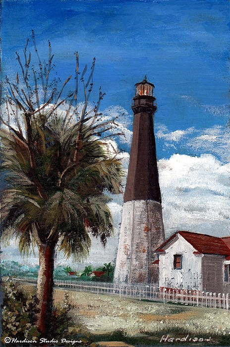 Lighthouse Painting - Tybee Lighthouse by Robynne Hardison