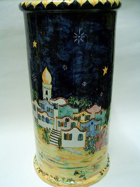 Umbrella Stand. Ceramic Art by Maria Rosaria Dalessandro