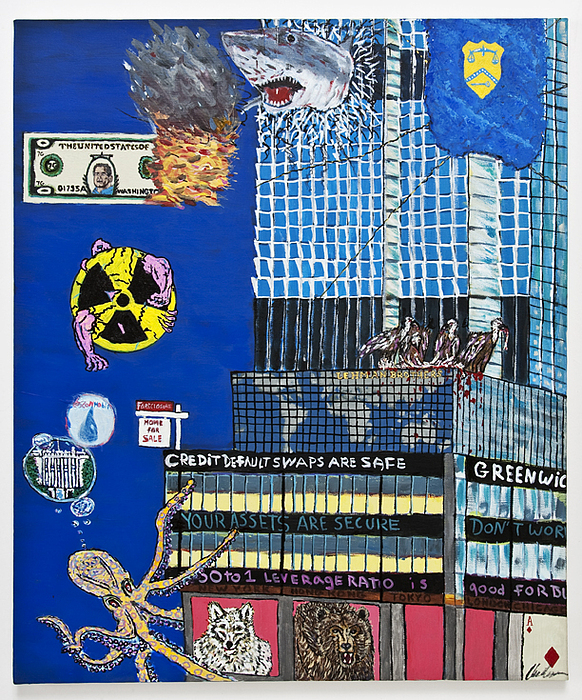 Financial Crisis Painting - Unbridled Enthusiasm by Andrew Broadbent