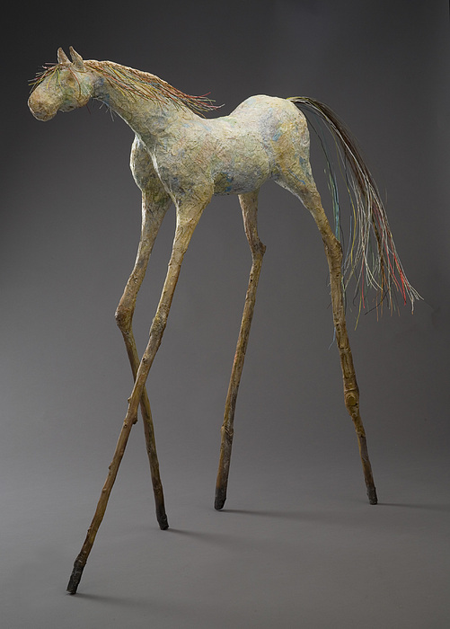 Horse Sculpture - Unbridled Spirit   Traveller by Mindy Colton