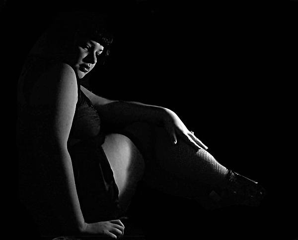 Figure Photograph - Uncertain Thoughts by Scarlett Royal