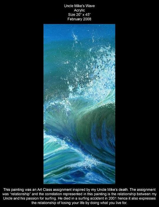 Water Painting - Uncle Mikes Wave by Lauren  Pecor
