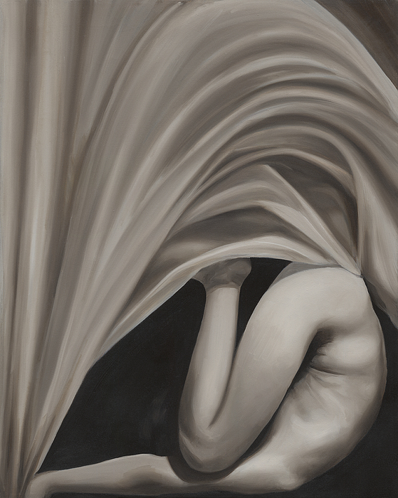Monochromatic Painting - Under Cover by Katherine Huck Fernie Howard