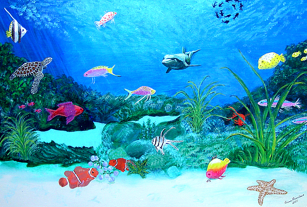 Under The Sea Painting by Gina Giordano