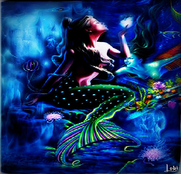 Mermaids Digital Art - Under The Sea by Loki Gwyn