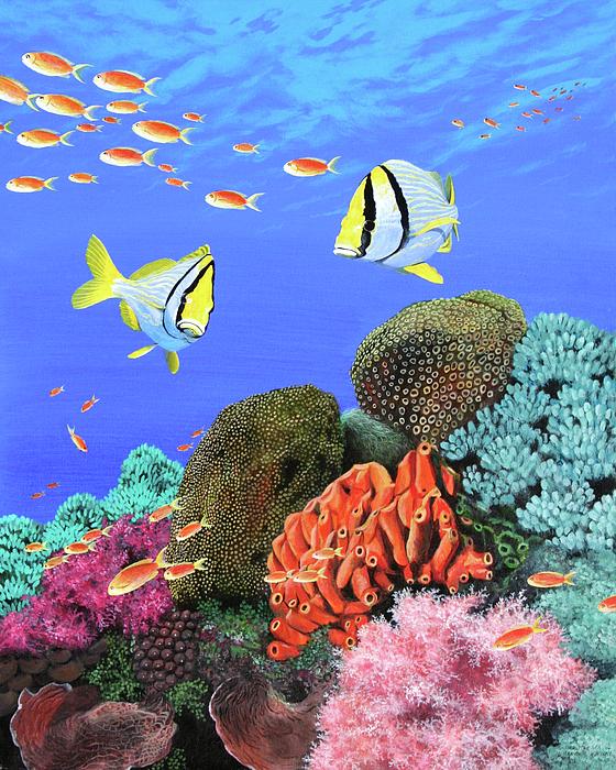 Sea Painting - Under The Sea by Wilfrido Limvalencia