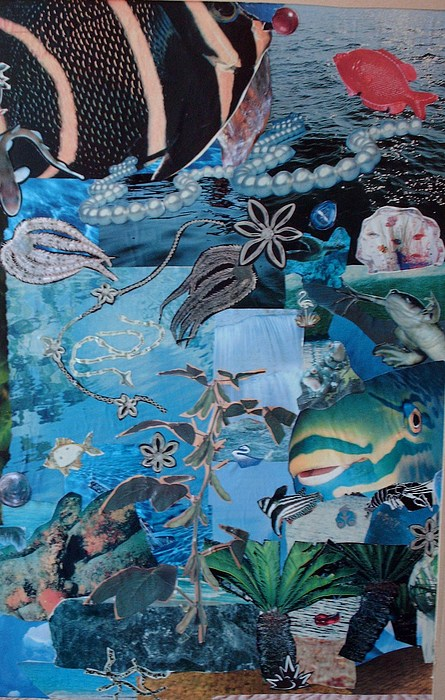 Underneath Mixed Media by Nancy Graham