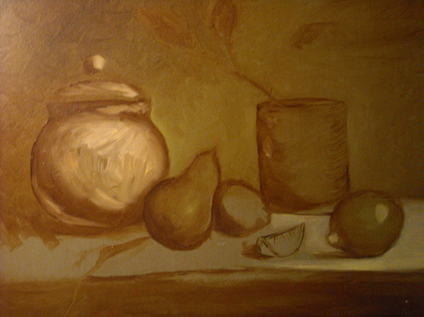 Underpainting For Study Painting by R Zulienn