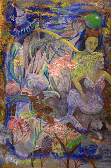 Mermaids Painting - Underwater Dreams by Penfield Hondros