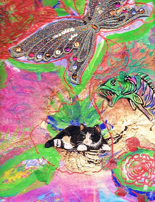 Butterfly Mixed Media - Underwater Menagerie by Anne-Elizabeth Whiteway