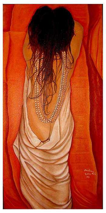 Realism Painting - Undressed For You... by Analua Zoe