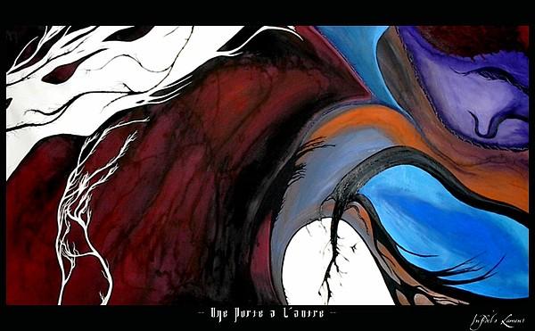 Landscape Painting - Une Porte A Lautre by Justin D B