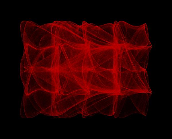 Strange Attractor Digital Art - Unfolds Imperfect  I by Robert Krawczyk