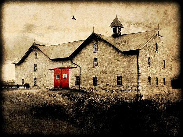 Brick Photograph - Uni Barn by Julie Hamilton