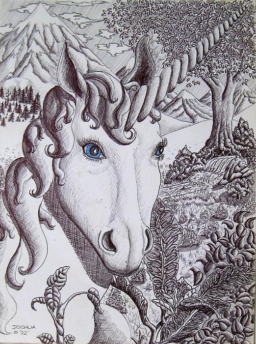 Unicorn Painting - Unicorn On Vacation by Joshua Armstrong