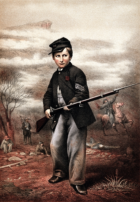 Civil War Painting - Union Drummer Boy John Clem by War Is Hell Store