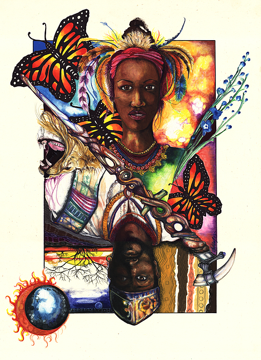 King Drawing - United by Anthony Burks Sr