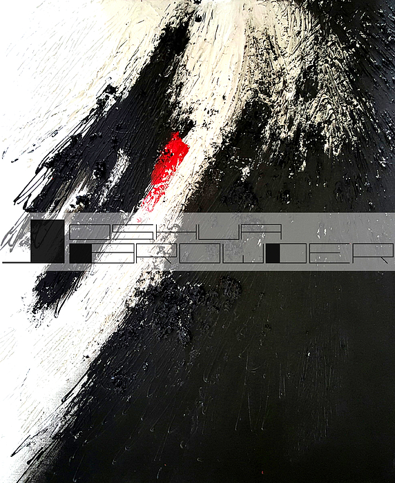 Black White And Red Painting - Unnatural Breath by Joshua Browder