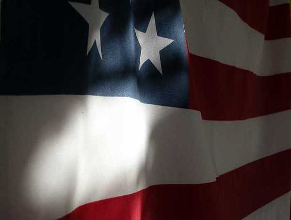 United States Photograph - Untited - American Flag Study by Kate Watkins