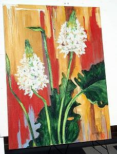 Oil Painting - Untitled Floral by Stan  Sternbach