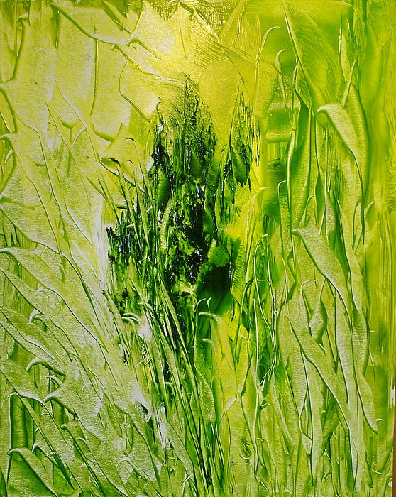 Abstract Painting - Untitled Green by Larry Ney  II