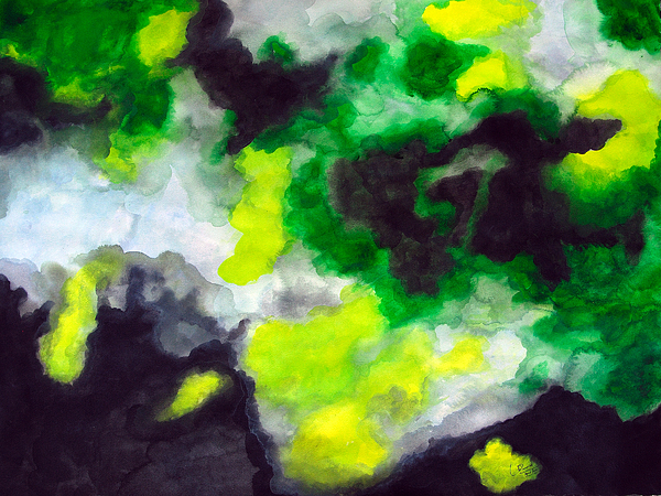 Untitled Landscape-abstract Painting by Prasad Setty