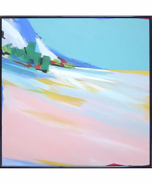 Abstract Landscape Painting - Untitled Landscape by M Jaquis