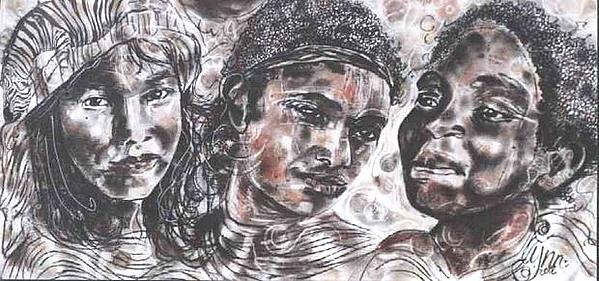 Ethnic Drawing - Untitled by Lynn Gray