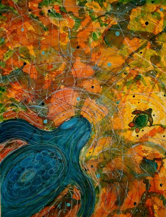 Turtles Painting - Untitled by Scott Harrington