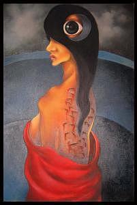 Woman Painting - Unwrapped by Joselito Jandayan