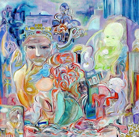 Uovo Marcio Painting by Claire Andrzejewski