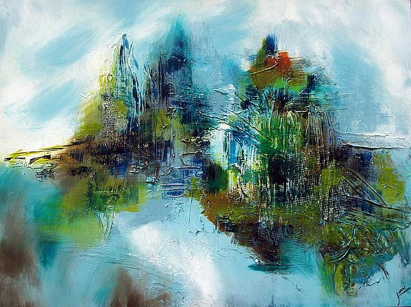 Abstract Painting - Up North by Jane Robinson