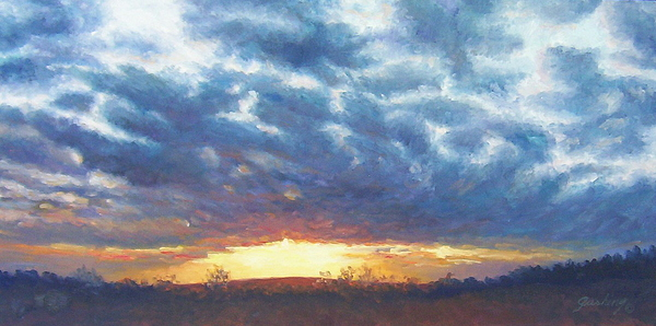 Landscape Painting - Up Over The Hill by Cindy Sugg