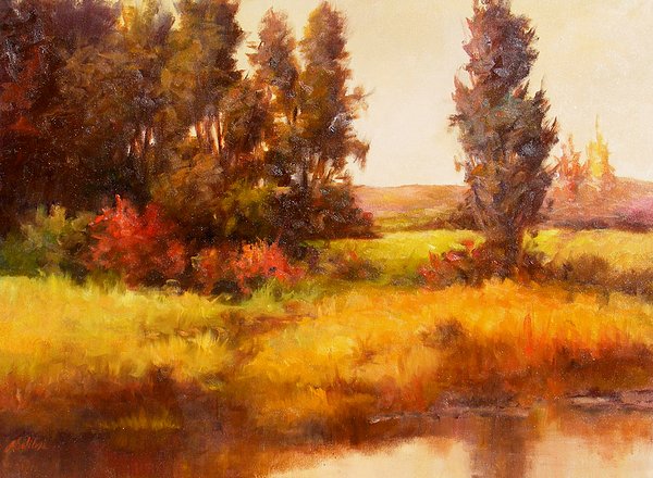 Upper Lake Painting by Gail Salitui