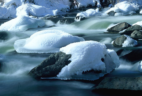 Winter Photograph - Upper Provo River In Winter by Dennis Hammer